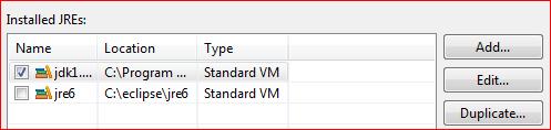 Установка выбора библиотеки JDK для Eclipse